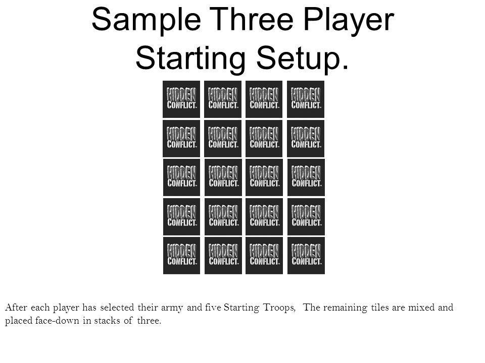 Sample Three Player Starting Setup.