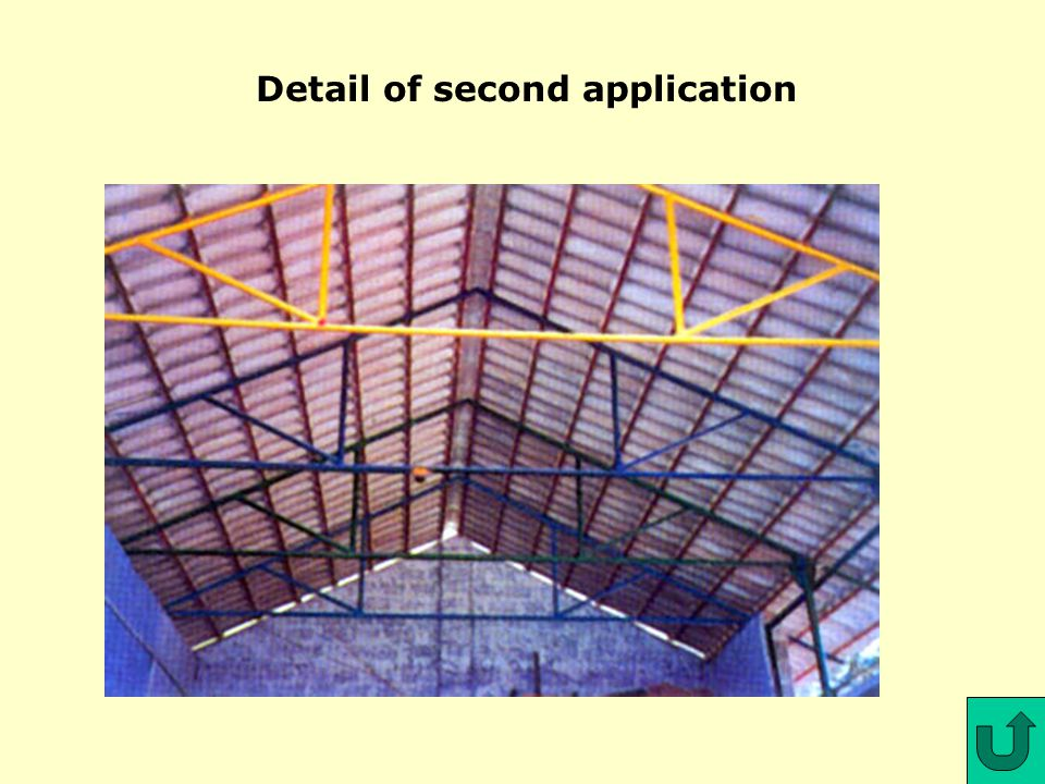 Introduction MCR Tile Calculator Competitive Advantages ApplicationsHow to make MCR Tiles How to Build with MCR Tiles TARA Tile Maker MCR Test Total Consulting Group Slide 18 Detail of first application