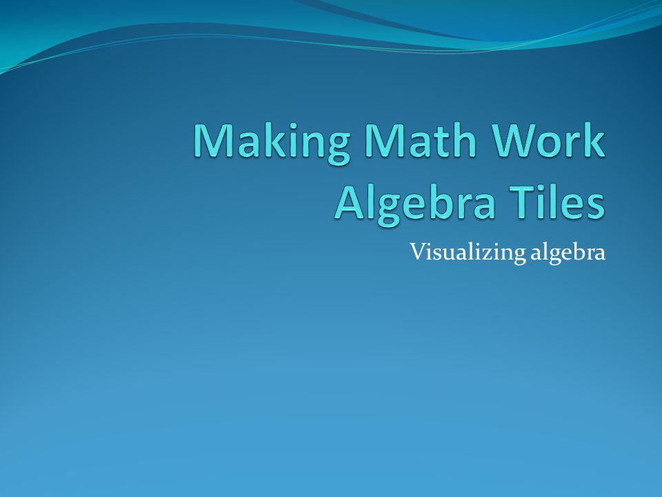 Visualizing algebra