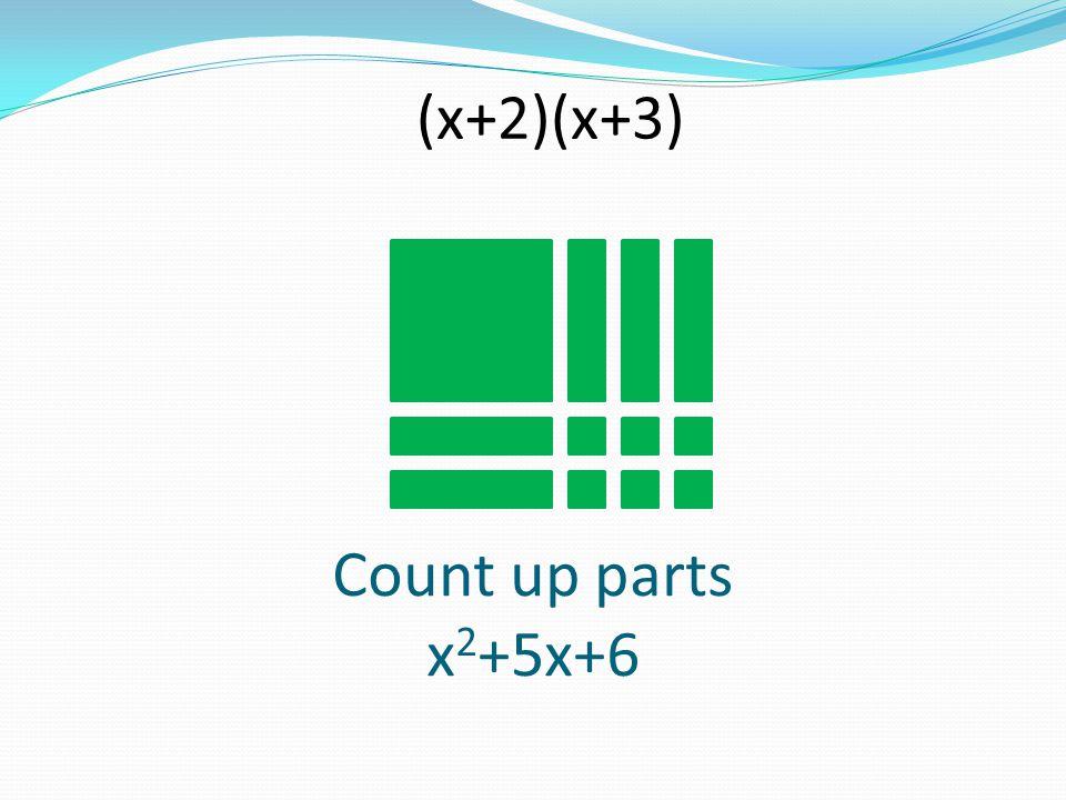 Count up parts x 2 +5x+6 (x+2)(x+3)