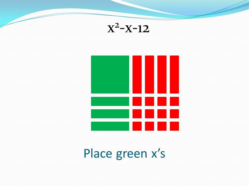 Place green xs x 2 -x-12