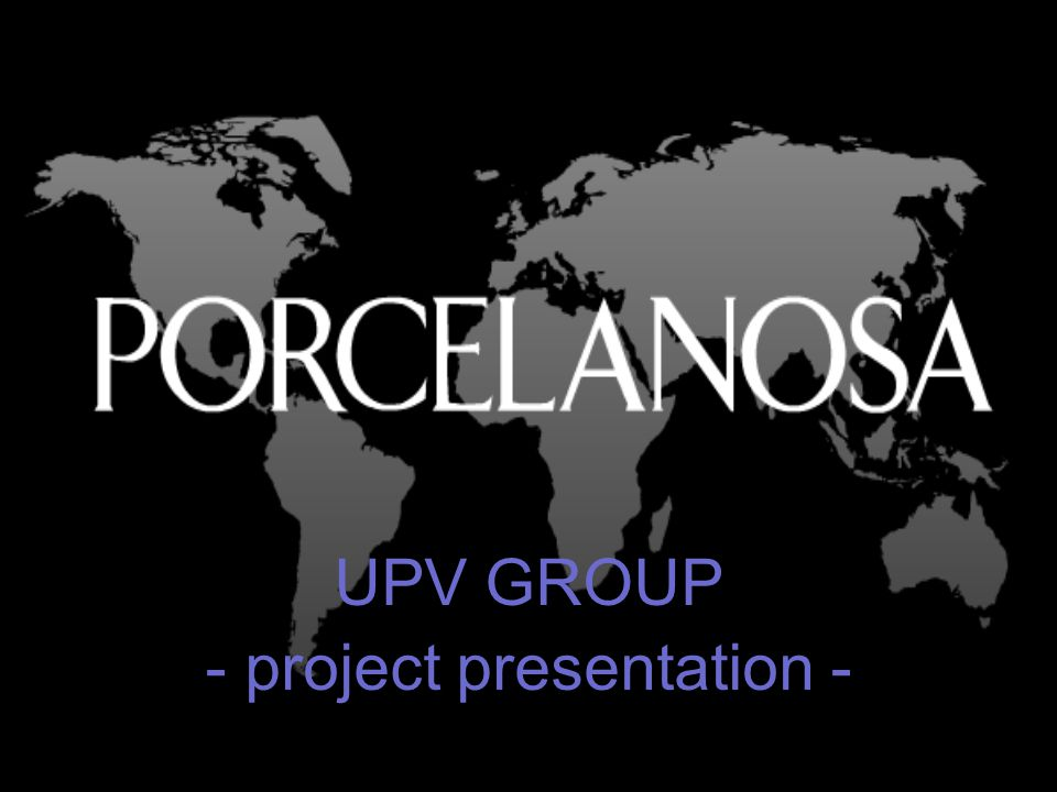 UPV GROUP - project presentation -