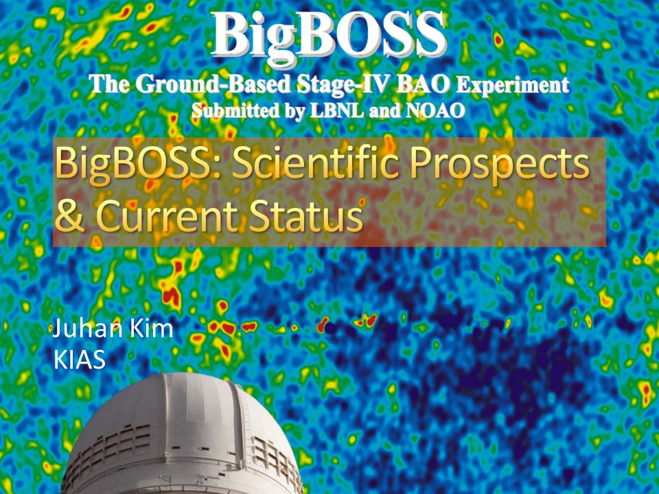2 2 BigBOSS will enlarge redshift-space maps to 21 million objects 10X larger than SDSS + SDSS-II + BOSS Necessary for Stage IV dark energy from BAO, RSD 4 million LRGs 16 million ELGs 0.6 million QSOs