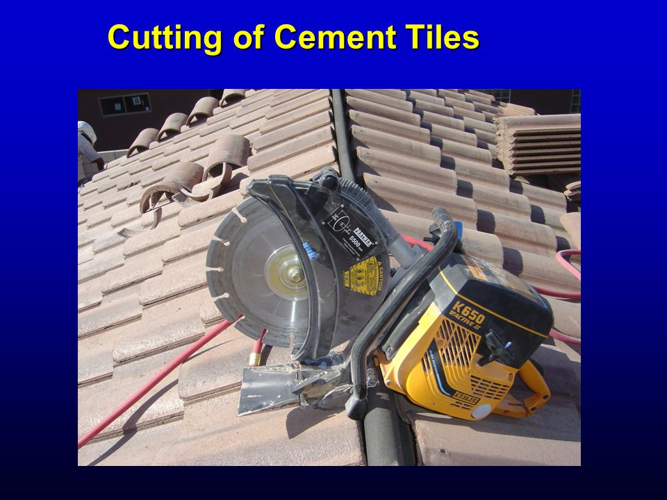 Cutting of Cement Tiles