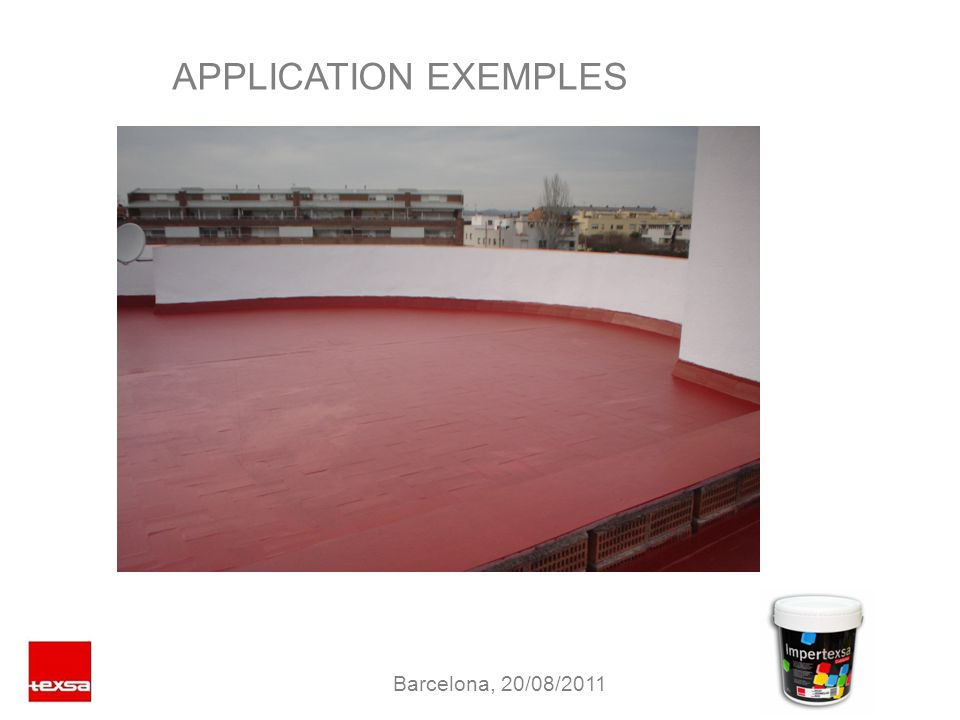 APPLICATION EXEMPLES Barcelona, 20/08/2011