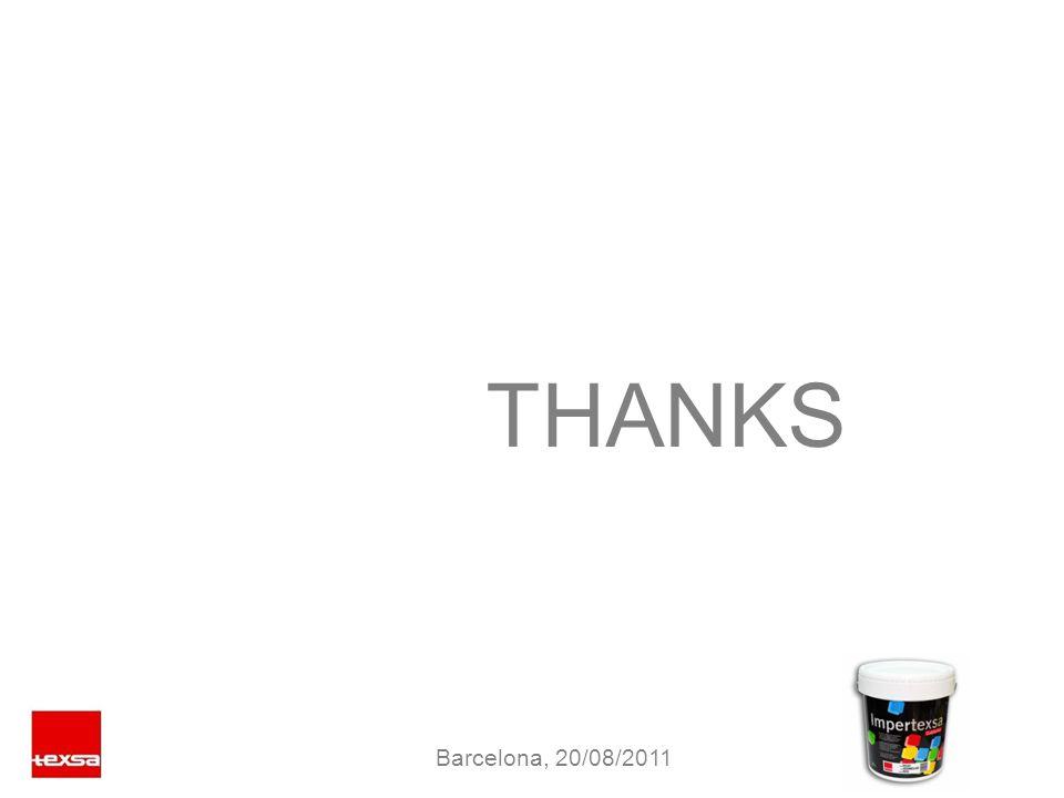 THANKS Barcelona, 20/08/2011