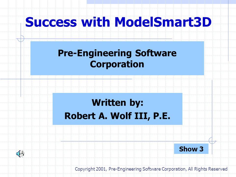 Success with ModelSmart3D - Part VI Slide No. 12 Re-analyze Model