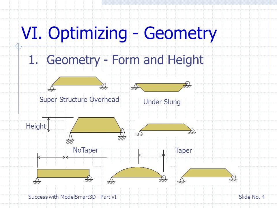 Success with ModelSmart3D - Part VI Slide No. 15 Finish New Bridge Geometry