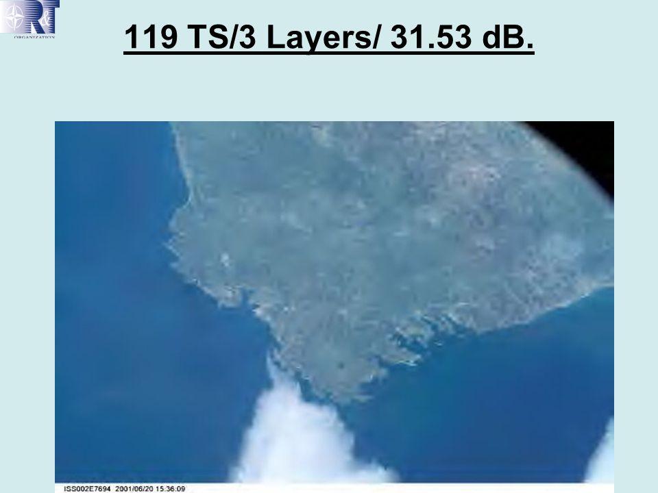 119 TS/3 Layers/ 31.53 dB.