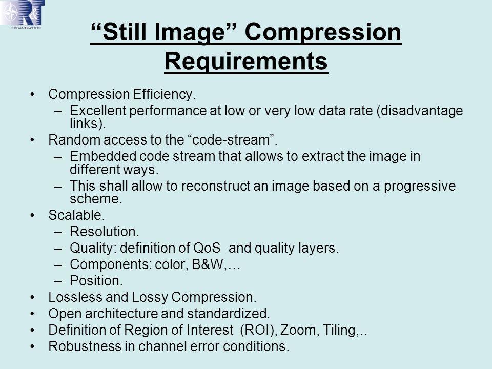 JPEG2000 Filtered SAR Images ImageBPPPSNR (Filt) PSNR (Orig) T/S P4 (Filtd) T/S P4 (Orig) Origina l 8 bpp-- Comp Lay #1 0.050522.9718.8430 Comp Lay#5 0.139525.4819.848180 Comp Lay#10 0.5143--22.30----- SAR Image median filtered.