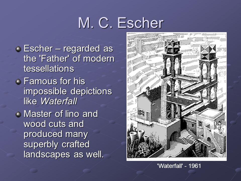 M.C. Escher Escher was born in Leeuwarden in Holland on June 17th, 1898.