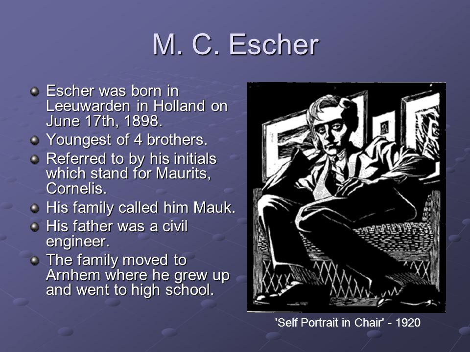 4 Motifs, 1950 Tessellation by M. C. Escher