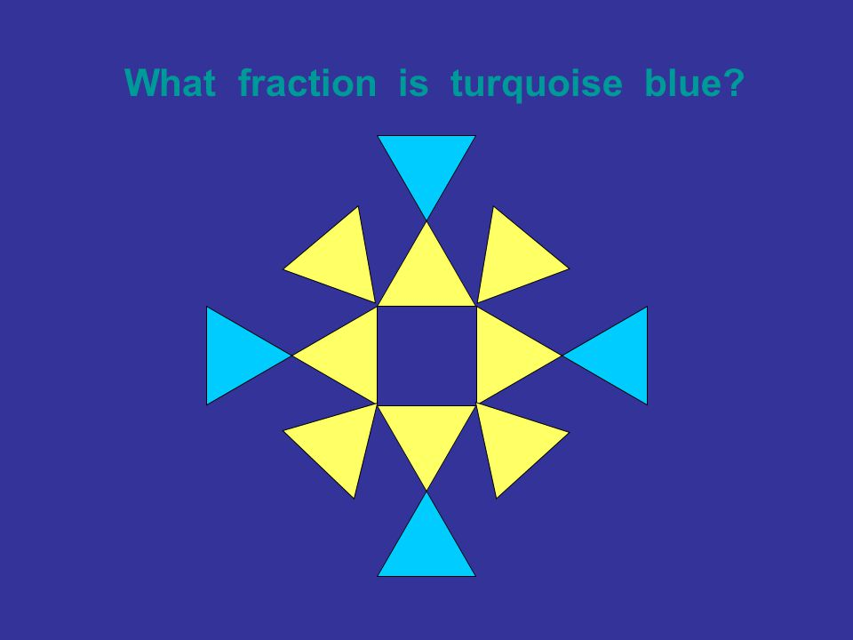 What fraction is turquoise blue?