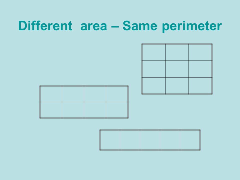Different area – Same perimeter