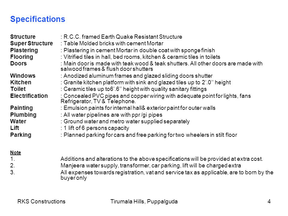 RKS ConstructionsTirumala Hills, Puppalguda5 Location Map
