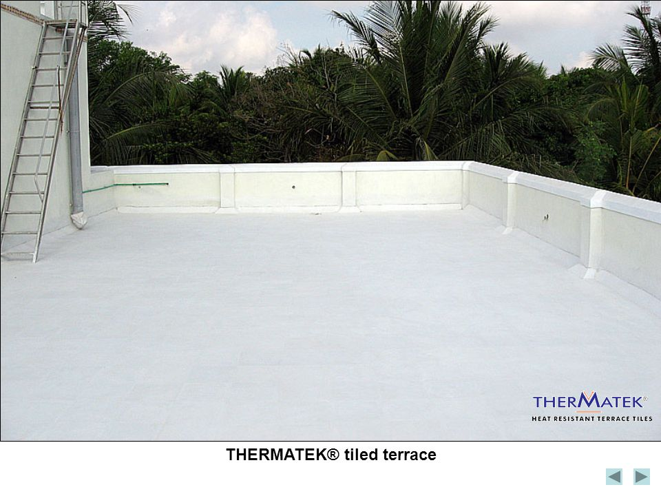 THERMATEK® tiled terrace