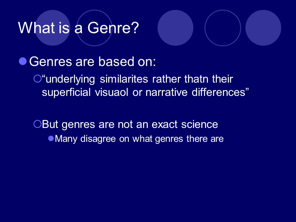 What is a Genre.