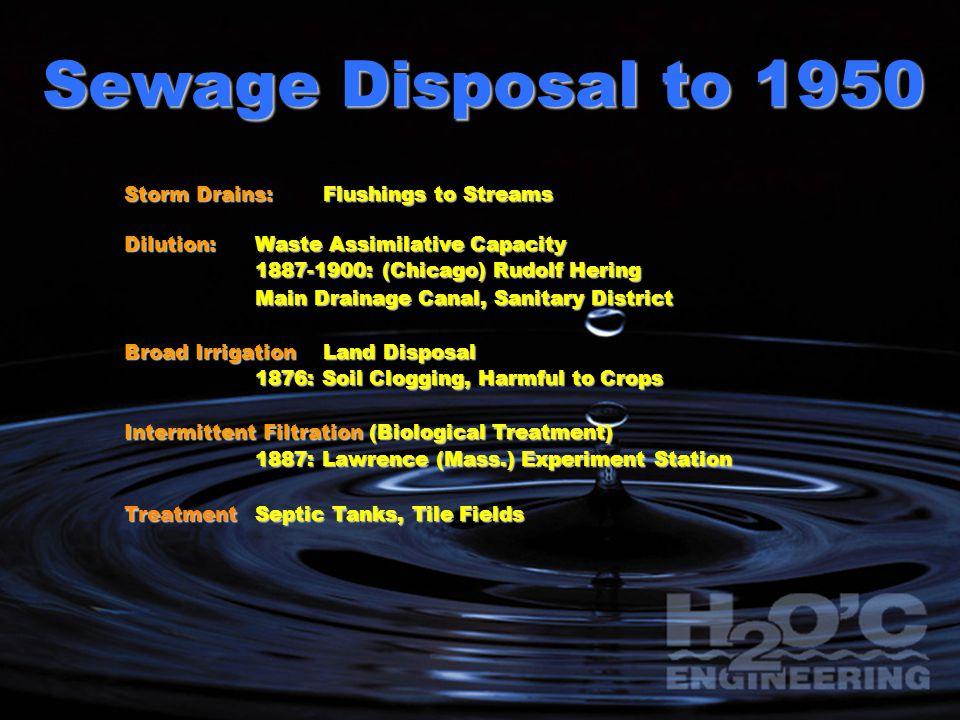 Sewage Disposal - 1930 U.S.