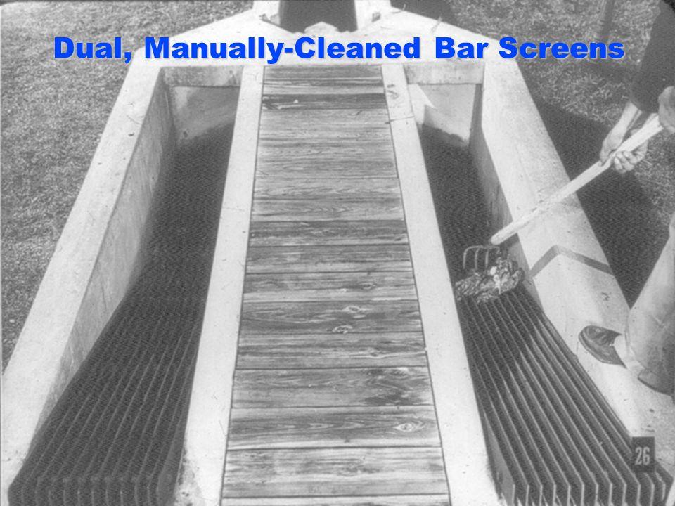 Dual, Manually-Cleaned Bar Screens