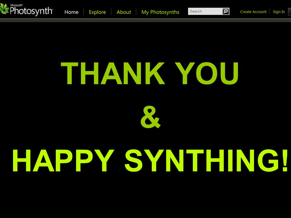 THANK YOU & HAPPY SYNTHING!
