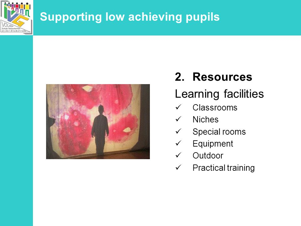 Supporting low achieving pupils Weekly learning plans The plan lists pages of an exercise book to work on, work sheets or special materials as well as topics to repeat.