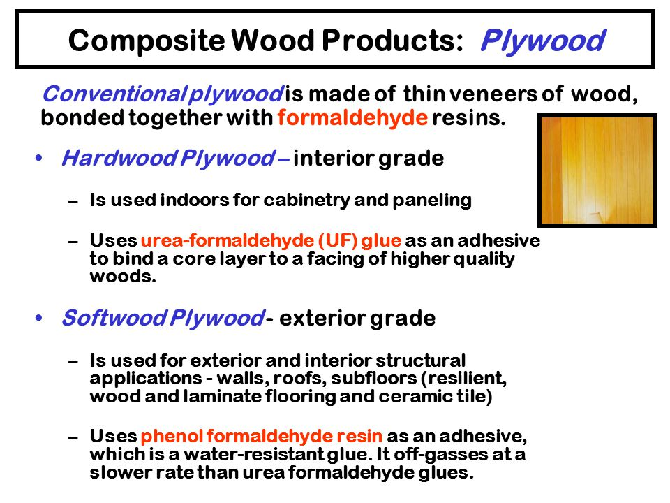 Building Materials with Hazardous Components Wood Products –Composite Wood Products –Pressure Treated Wood Flooring Insulation Concrete Paints and Fin