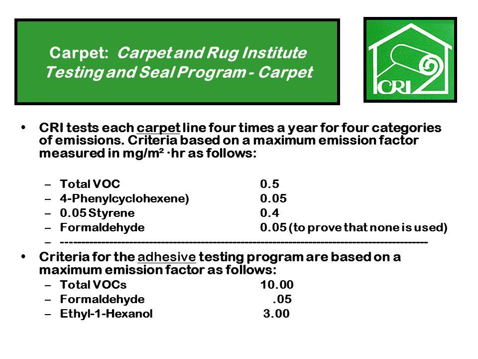 Hierarchy of Carpet Alternatives 4.Natural fiber wall-to-wall rug: 5.Acrylic wall-to-wall rug: Both should have: a natural backing non-toxic pad, and