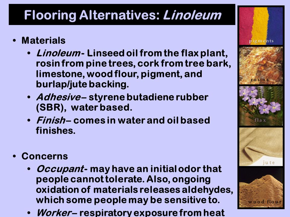 Flooring: Vinyl Tiles Maintenance Vinyl is porous and requires a floor finish to fill pores. Can be coated with; melamine, water based acrylic or poly