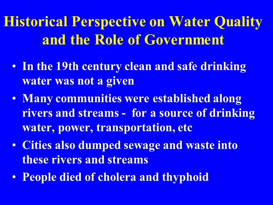 Federal Water Quality Policy Nation LawClean Water Act Safe Drinking Water Act USDA PolicyRegulation 9500-7 Regulation 9500-8 NRCS PolicyGM 450 & 460, Parts 401