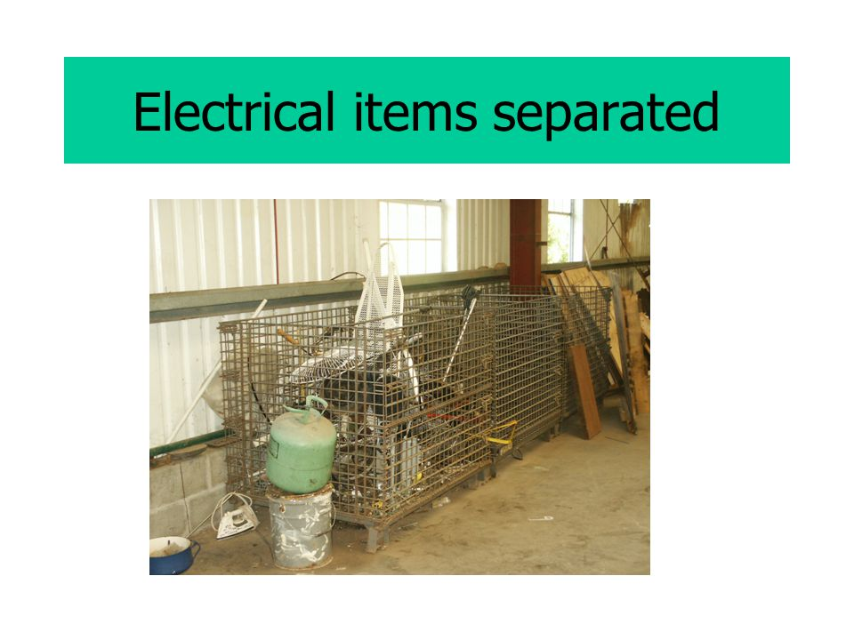 Electrical items separated