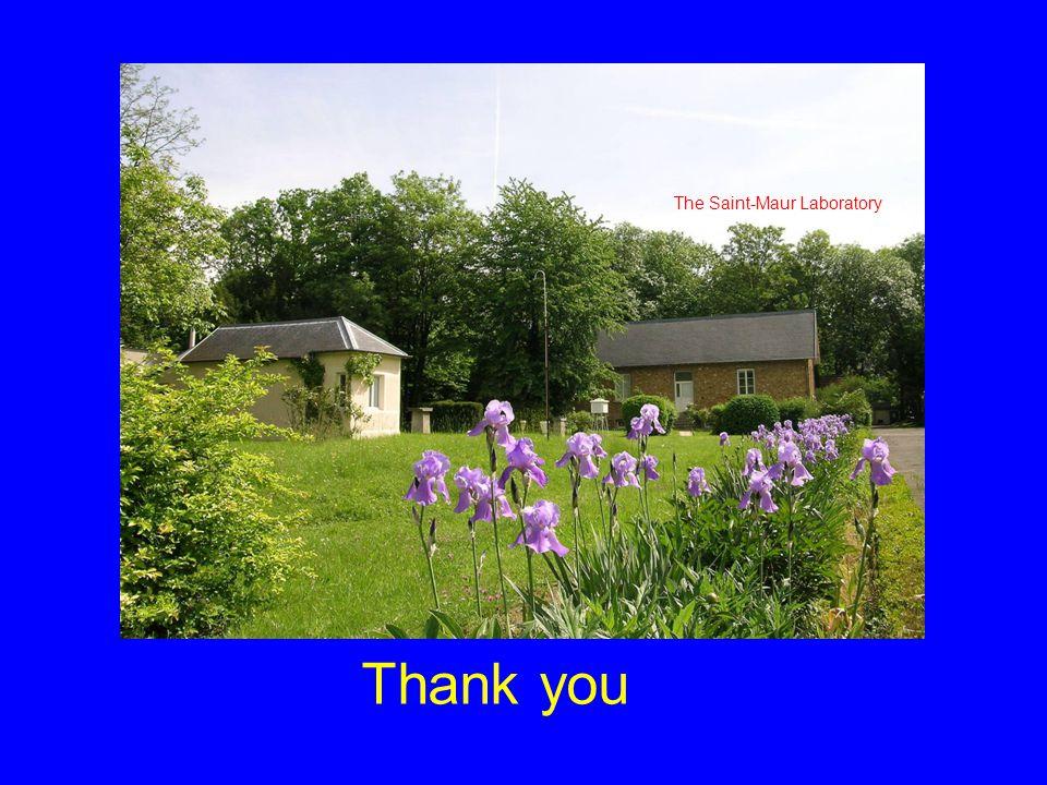 Thank you The Saint-Maur Laboratory