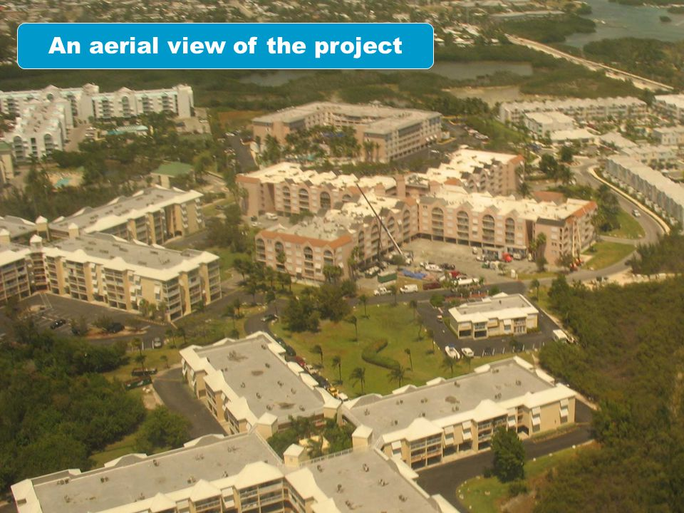 An aerial view of the project