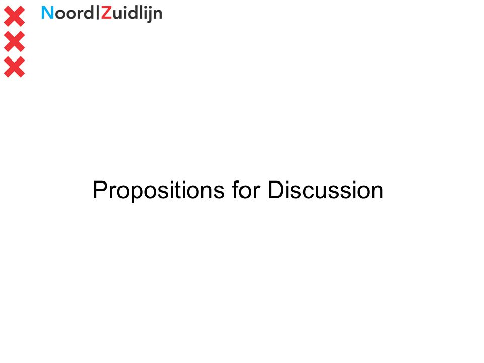 Propositions for Discussion
