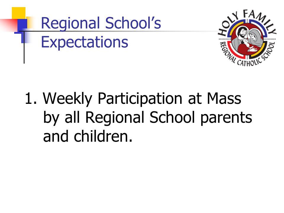 Regional Schools Expectations 1.