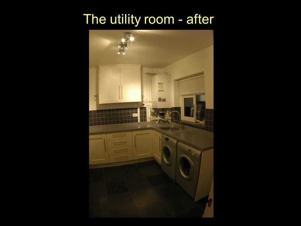 The utility room - after