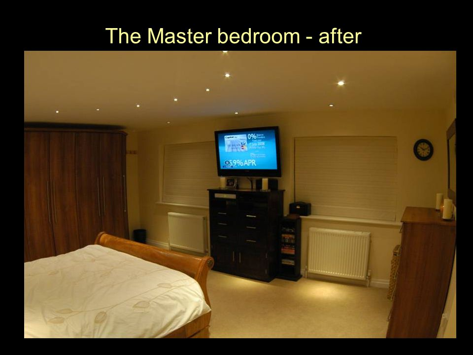 The Master bedroom - after