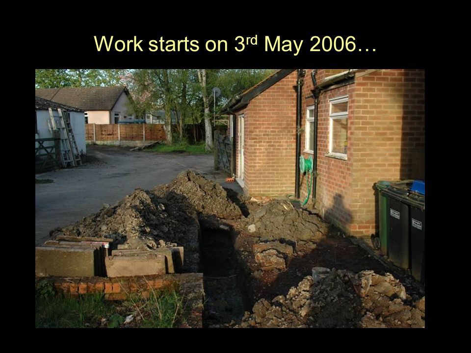 Work starts on 3 rd May 2006…