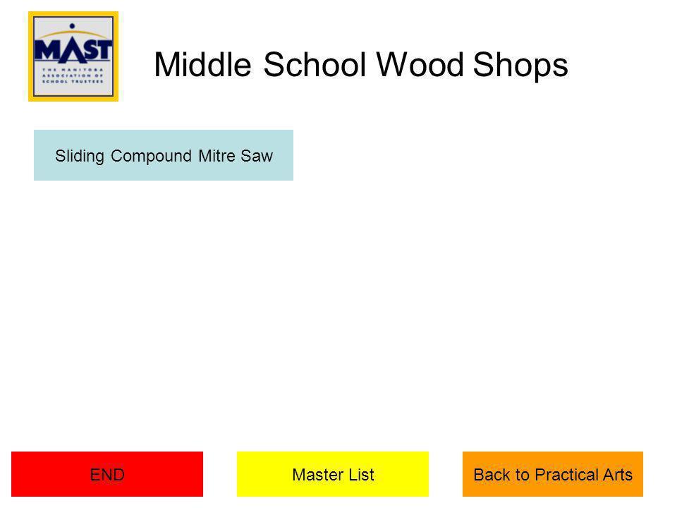 Master ListENDBack to Practical Arts Sliding Compound Mitre Saw Middle School Wood Shops