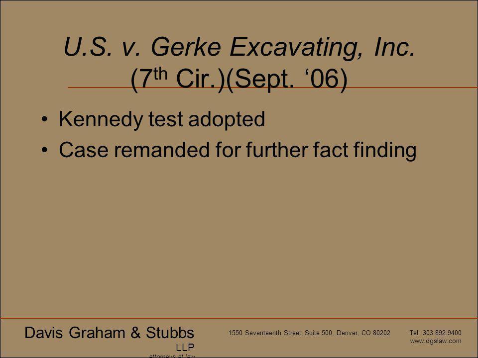 Davis Graham & Stubbs LLP attorneys at law 1550 Seventeenth Street, Suite 500, Denver, CO 80202 Tel: 303.892.9400 www.dgslaw.com U.S.