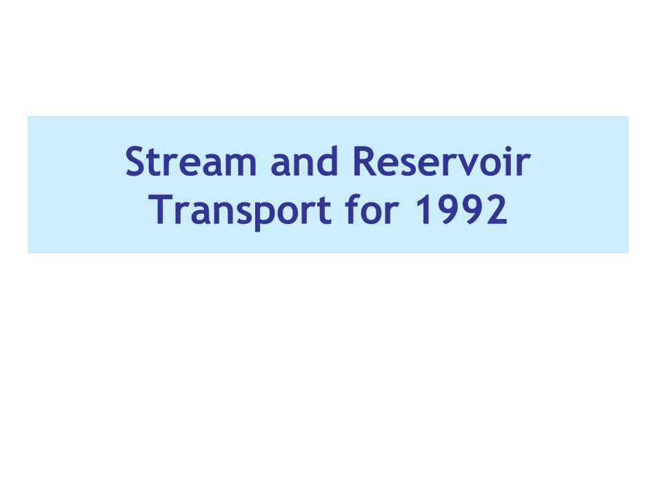 Stream and Reservoir Transport for 1992