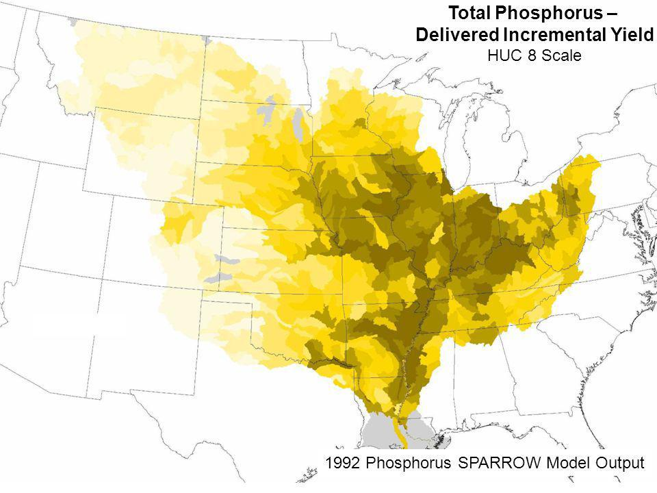 Total Phosphorus – Delivered Incremental Yield HUC 8 Scale 1992 Phosphorus SPARROW Model Output