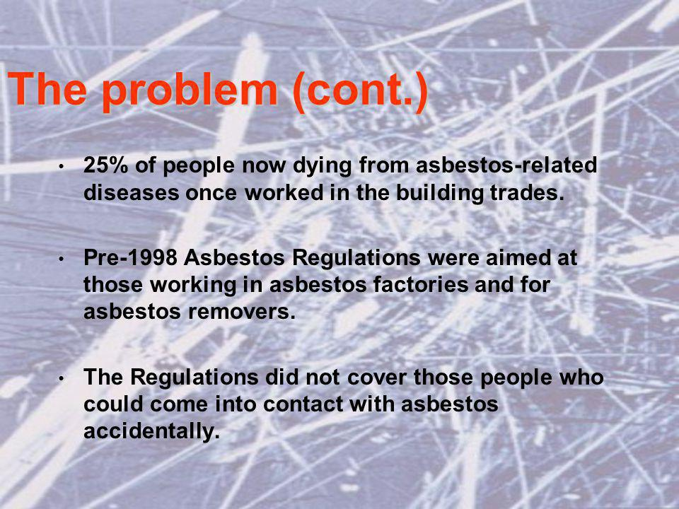 The management plan options If asbestos in good condition and unlikely to be disturbed: leave it in place; and introduce a management system.