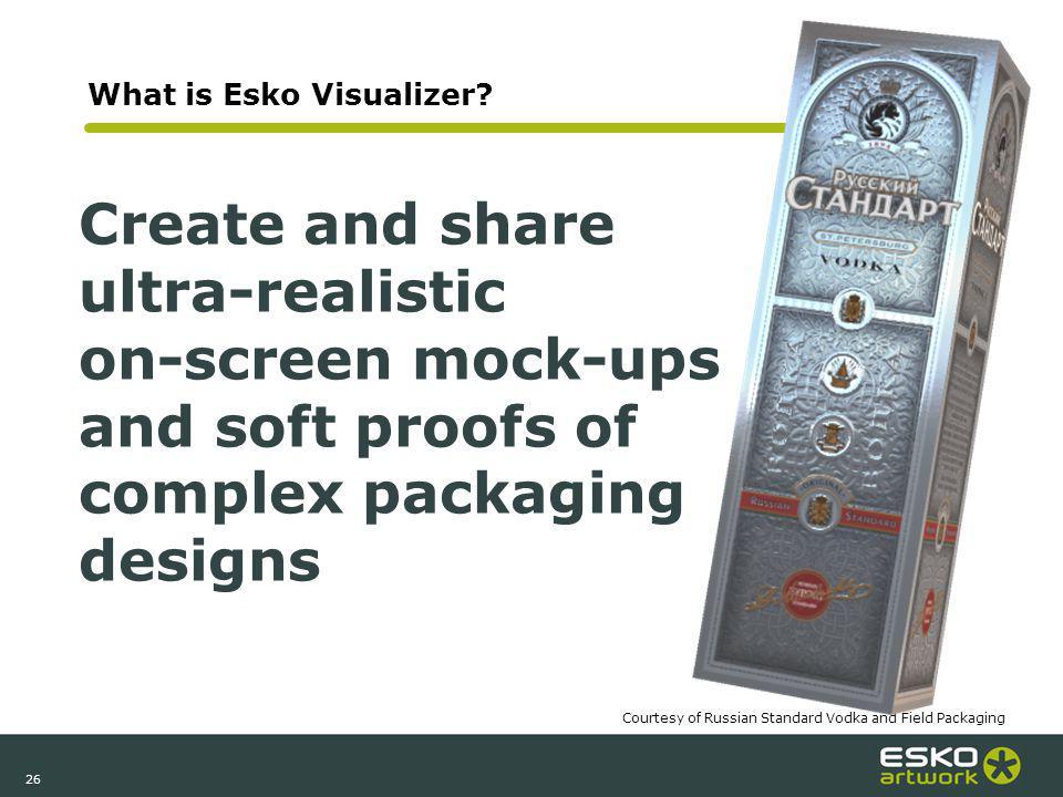 26 What is Esko Visualizer.