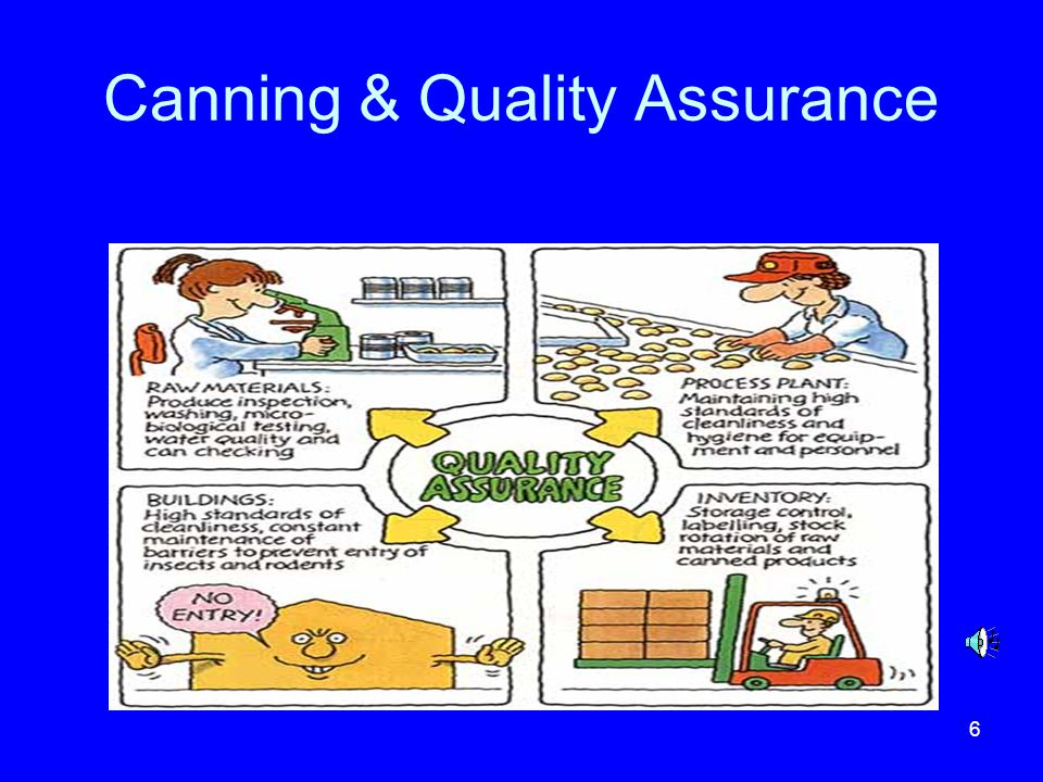 7 Quality Control A large part of a QA program is built around quality control Quality control means to regulate to some standard It is an important tool for the production worker to help operate the line in conformance with the predetermined parameters for any given quality level