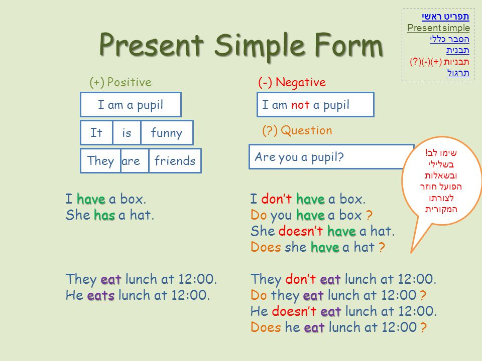 Present Simple be be We use the present simple be to expresses an action in the present taking place once.