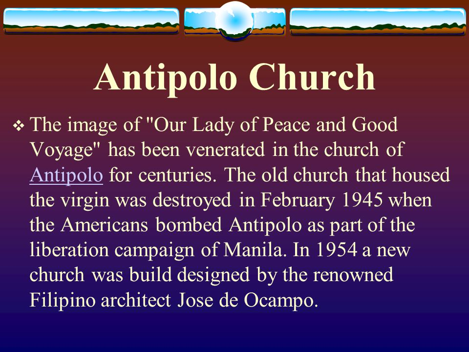 Antipolo Church The image of