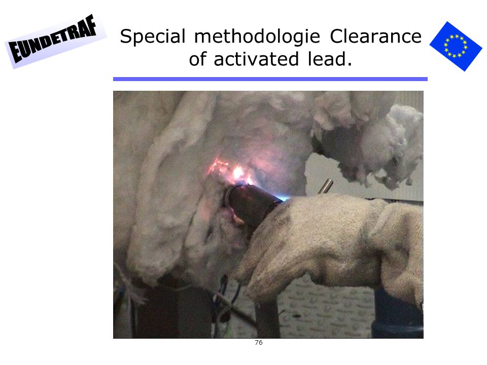 76 Special methodologie Clearance of activated lead.