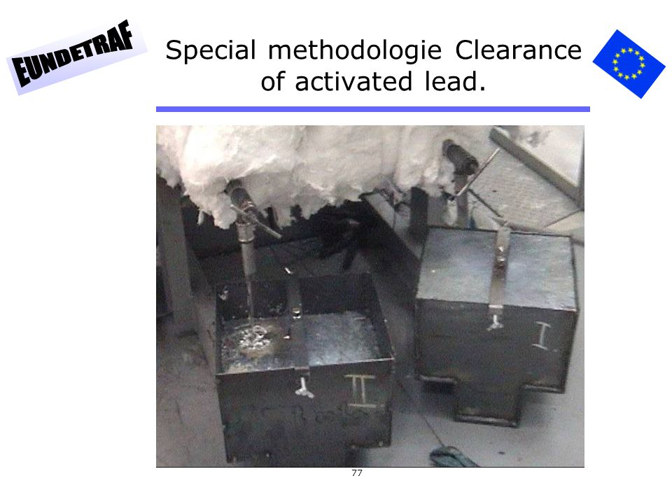 77 Special methodologie Clearance of activated lead.