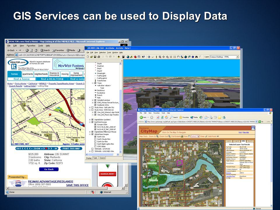 ND GIS UC 200721 GIS Services can be used to Display Data