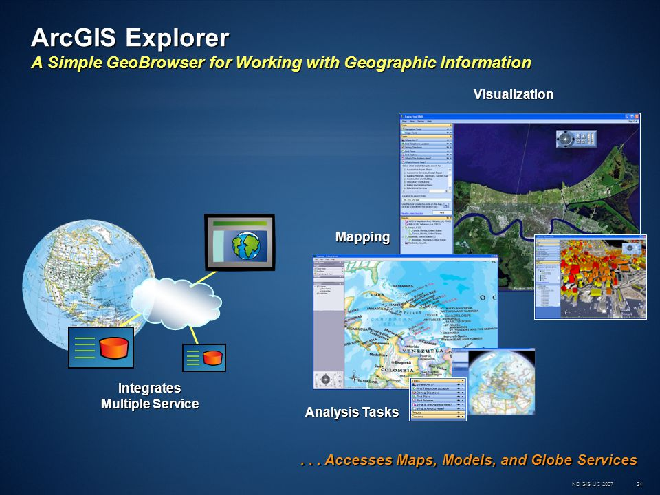 ND GIS UC 200724 ArcGIS Explorer A Simple GeoBrowser for Working with Geographic Information...